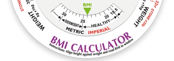 BMI calculator printed with my logo