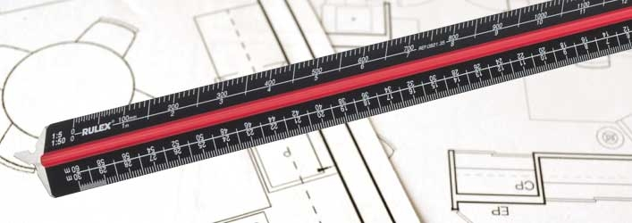 triangle scale rulers black metal